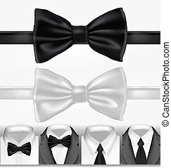Black and white tie Vector illustration