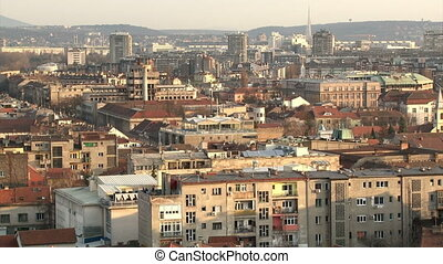 Belgrade, Zemun, buildings, city, long shot