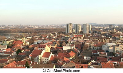 Belgrade, Zemun, Serbia - Belgrade, Zemun, pan right