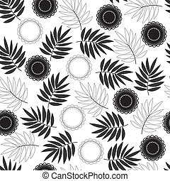 Background with leaf and delicate circles