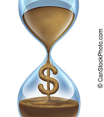 Time Is Money - Time is money financial and savings concept...