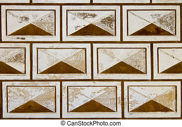Sgraffito on historical wall background - Renaissance...
