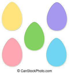Páscoa, adesivo, jogo, ovo