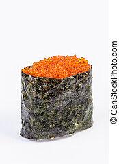 Tobiko Gunkan Sushi with Fish Roe