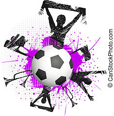 Ball in game - Football with fans and attributes of football