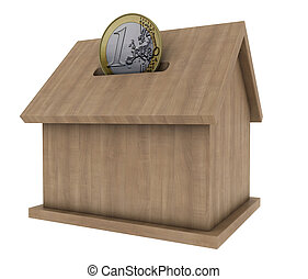 wood house coin