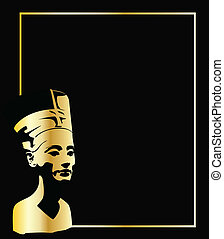 the gold vector head of Nefertiti eps 8