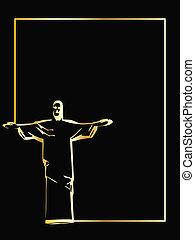 he vector iesus christ rio de janeiro statue silhouette