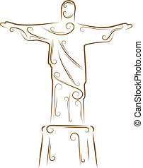 Statue of Christ the Redeemer - Sketch of the Statue of...