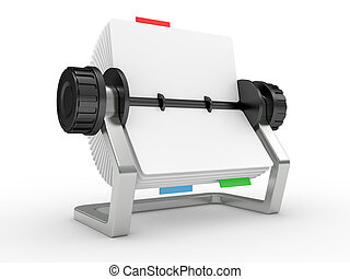 Rolodex on a white background