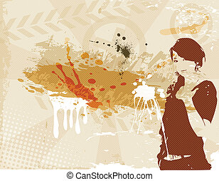 the vector grunge brown background eps 10