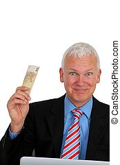 Businessman with money - Senior Businessman with money and...