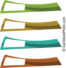 the vector color banner set