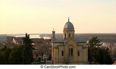 Belgrade, Zemun, Church St Dimitrije, wide