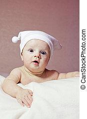 Cute little baby - Cute surprized little baby in hat