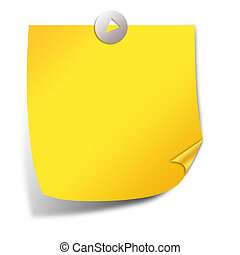 Post it note paper - Yellow post it note paper