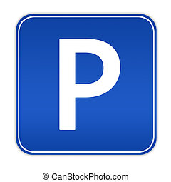 Parking sign - Illustration of cars parking sign