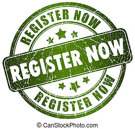 Register now stamp