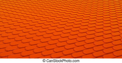 Orange Leather stitched background with scales texture Large...
