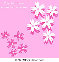 flower background for art projects, pamphlets, brochures or...
