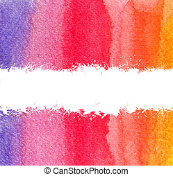 colorful watercolor brush strokes with white scratch and...