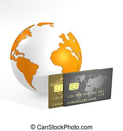 Orange earth and credit cards