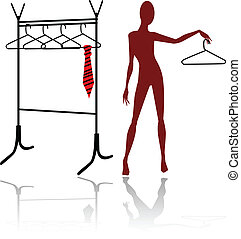 the abstract vector mannequin silhouette