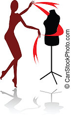 the abstract vector mannequin silhouette (eps file)