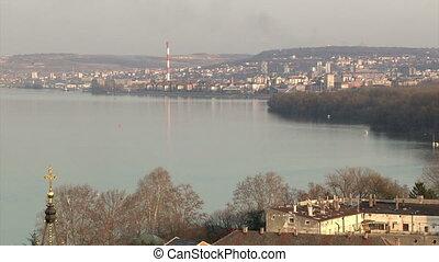 Belgrade, Danube river - Belgrade, Dorcol, Danube river,...
