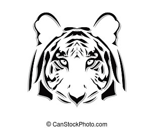 the vector abstract tiger head eps file