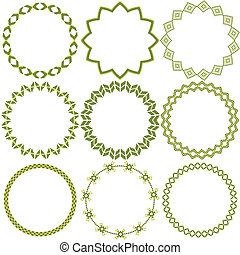 Circles with ornaments
