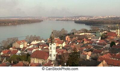 Belgrade, Zemun, Danube river, panorama