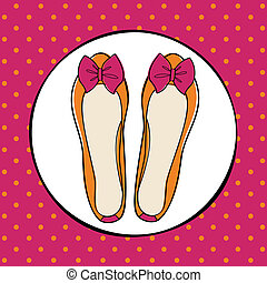 Cute Ballerina Shoes - Illustration of cute ballerina shoes...