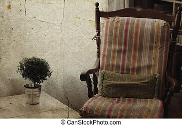 comfortable home interior Photo in old image style