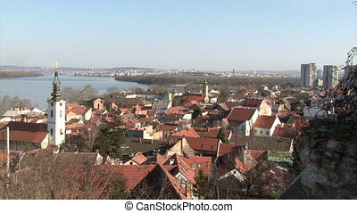 Belgrade, Zemun, pan right - Serbia, Belgrade, Zemun, pan...