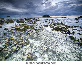 Cloudy morning on Koh Lipe island Thailand - Stormy...