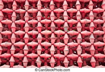 Red Wall Pots Pattern