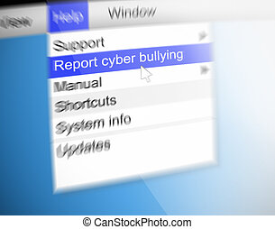 Cyber bullying concept - Illustration depicting text on a...