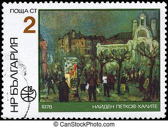 BULGARIA - CIRCA 1978 Market - BULGARIA - CIRCA 1978: A...