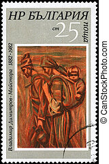 -, hacia,  1982, segadores,  bulgaria