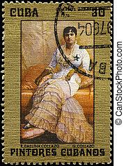 CUBA - CIRCA 1976 Emelina Collazo