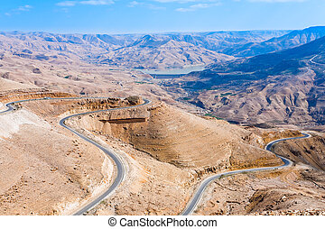 mountain serpentine road, Jordan - mountain serpentine...
