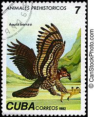 CUBA - CIRCA 1982 Eagle - CUBA - CIRCA 1982: A Stamp printed...
