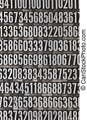random numbers background - vintage grunge letterpress metal...