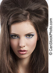 portrait of a girl with brown hair