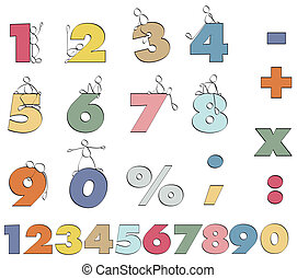 Funny numbers - color numbers 1 to 9 for mathematics