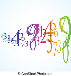 the abstract color number background
