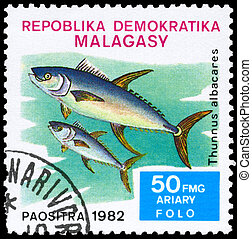 MALAGASY - CIRCA 1982 Tuna - MALAGASY - CIRCA 1982: A Stamp...