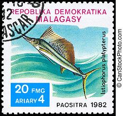MALAGASY - CIRCA 1982 Sailfish - MALAGASY - CIRCA 1982: A...