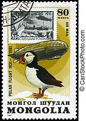 mongolia, -, hacia, 1981, Graf, zeppelin, frailecillo